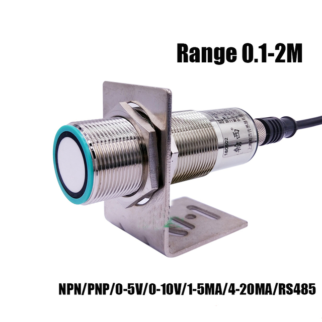 M30 200KHZ 0.1 2M di Distanza Ad Ultrasuoni sensore di sensore Analogico 0 5V/0 10V/1 5MA/4 20MA rivelatore di Movimento del sensore sensore di prossimità
