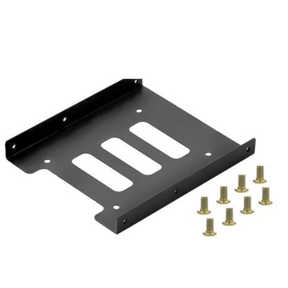 100% Brand New And High Quality Metal 2.5 To 3.5 Hard Drive Bracket SSD Solid State Disk Tray For SATA