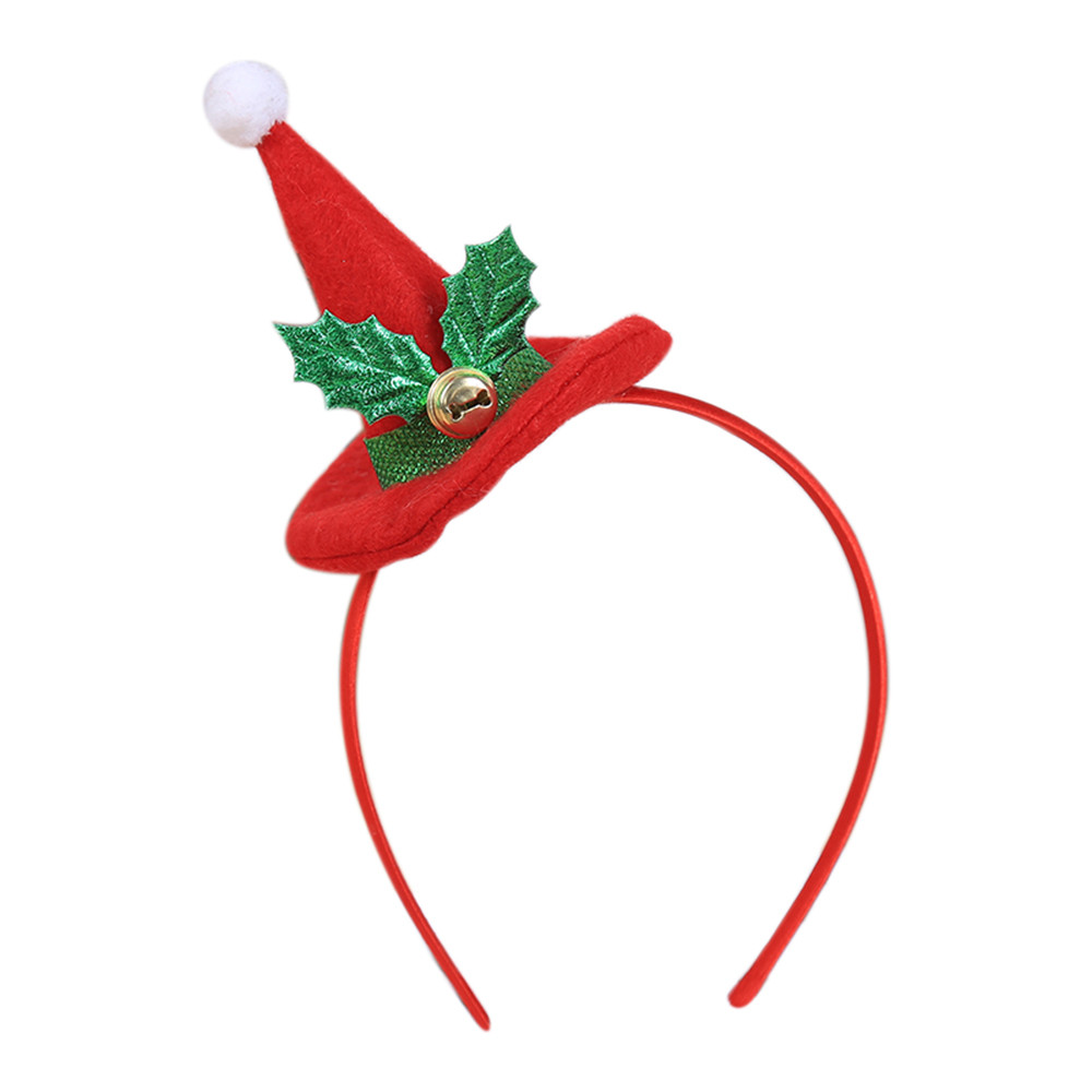 Christmas Decorations For Home Hot Christmas Headband Santa Xmas Party Decor Double Hair Band Clasp Head Hoop Xmas Decoration
