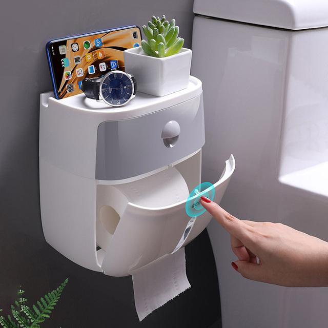 Toilet paper dispenser for bathroom