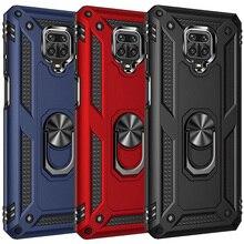 Armor Magnetic Case for Xiaomi Redmi Note 10 9s 8 7 Pro 8T 9A 9C 8 7A Mi 11 10T Note 10 Lite Poco M3 X3 Pro Car Holde Ring Cover
