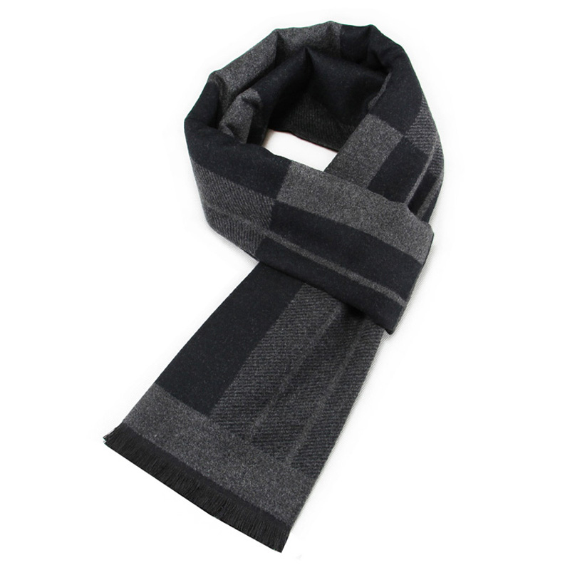 YISHLINE Luxury Brand Men Cashmere Scarf THICK Winter Viscose Scarves Plaid Autumn Warm Long Neckerchief Man Wraps шарф мужской