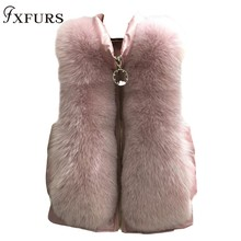 FXFURS new arrival women winter thick fur coat design real fox jacket high quality mink tailored collar