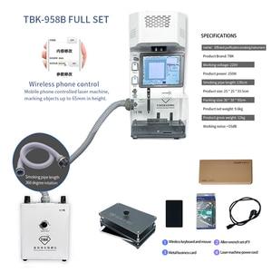2020 новейшая TBK-958B Лазерная Маркировочная Отдельная машина для IPhone 8-11 Pro Max для удаления задних стекол ремонт машины управление по телефону
