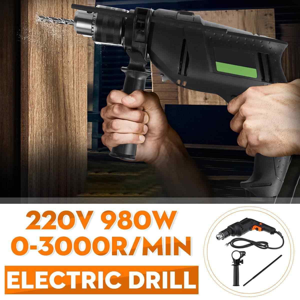 Drillpro 980W 3000 Vòng/phút Điện Đa Năng Tác Động Khoan Vặn Vít Máy Mài Góc  Máy Đánh Bóng Cắt Búa Điện Electric Drills