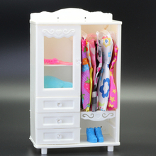 Accessories For Miniature Dolls Houses Baby Doll Wardrobe White Plastic Dollhous