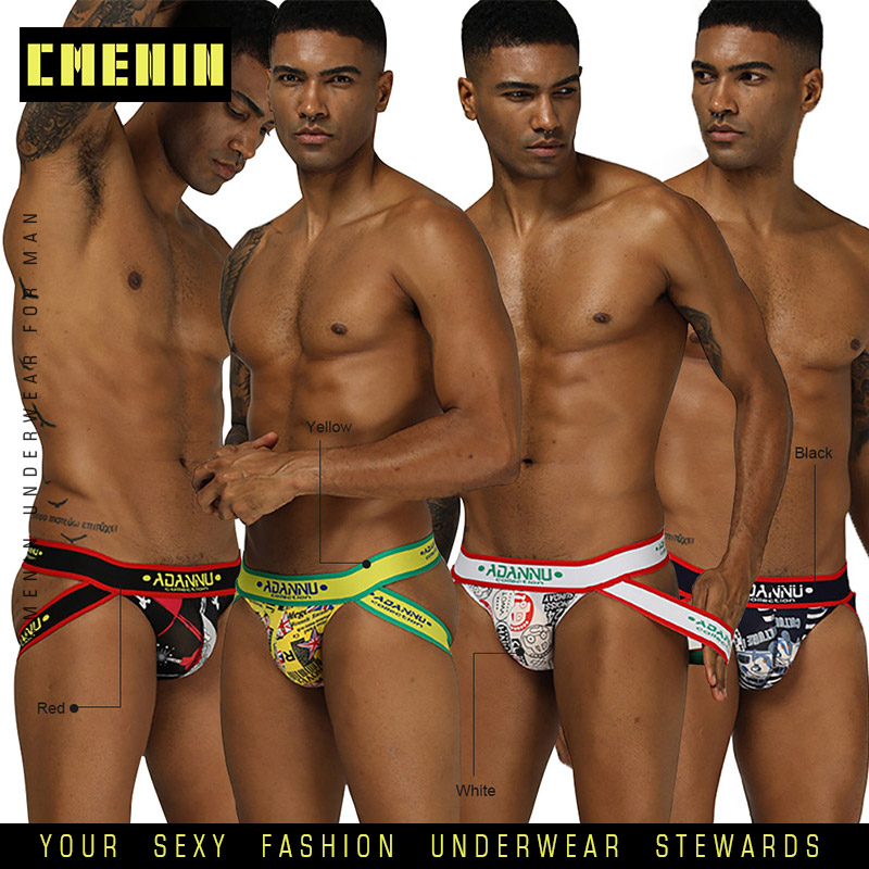 4Pcs Sexy Men Underwear Jockstrap Thong Men Under Wear Thongs And G String Gay Men Lingerie Strings Tanga Bikini Ice Silk AD302