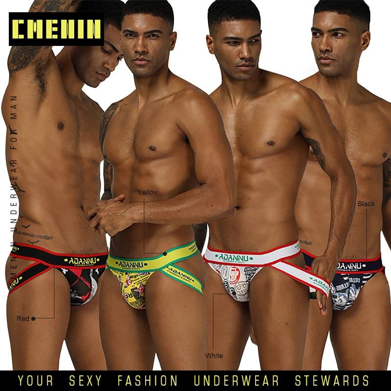 4Pcs Sexy Men Underwear Jockstrap Thong Men Under Wear Thongs And G String Gay Men Lingerie Strings Tanga Bikini Ice Silk AD302