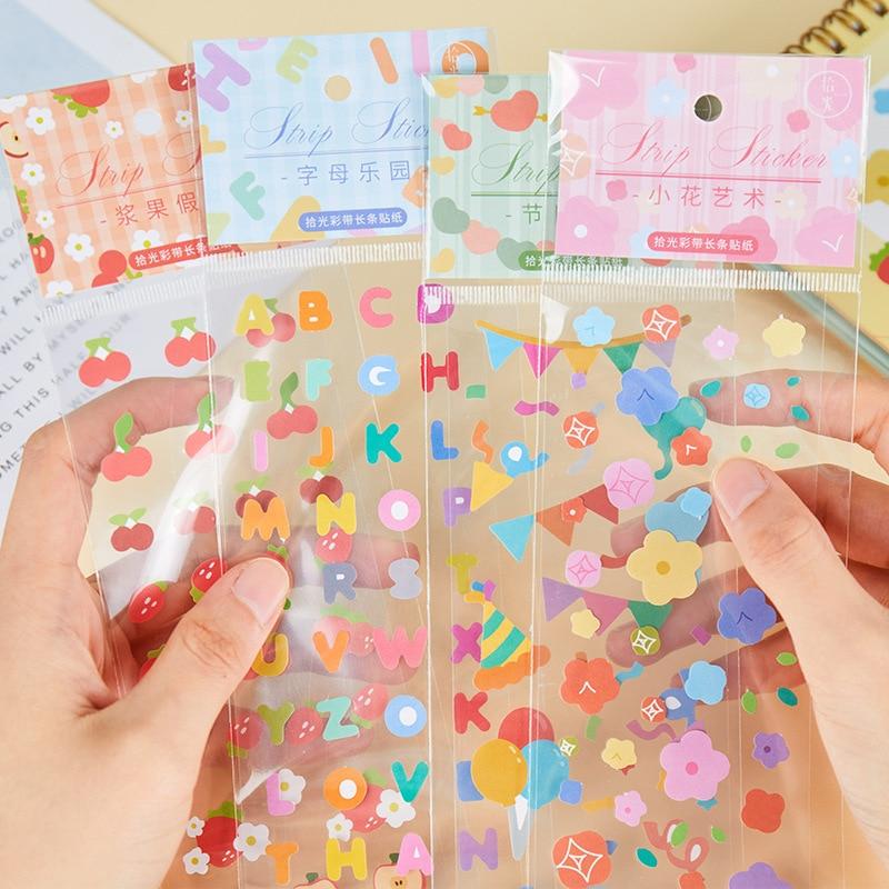 Mohamm 1 шт красочные ленты серии наклейки украшения DIY креативные ручные учетные материалы канцелярские товары для школы принадлежности