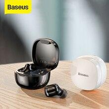 Baseus WM01 TWS Bluetooth אוזניות עם מיקרופון סטריאו אלחוטי 5.0 רעש ביטול מגע בקרת משחקי ספורט אוזניות