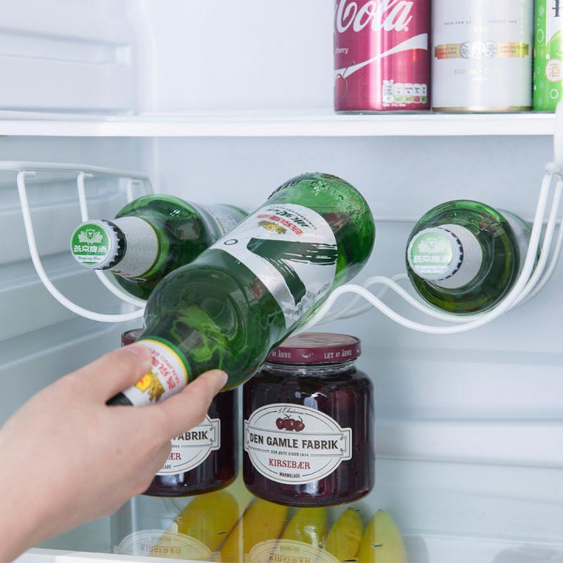 Metal Wine Bottle Rack Cabinet, Wine Bottle Storage For Fridge