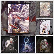 InuYasha Sesshoumaru x Rin Anime Manga HD Print Wall Poster Scroll(China)