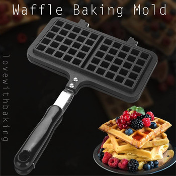 Non-Stick Waffles Maker Mold Portable Iron Machine Household Kitchen Gas Pan Bubble Eggs Cake Oven Breakfast Machine cake maker