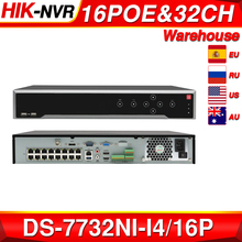 Hikvision POE DS 7732NI I4/16P 16CH H.265 12mp POE NVR dla IP uchwyt na aparat dwukierunkowy HIK CONNECT Audio