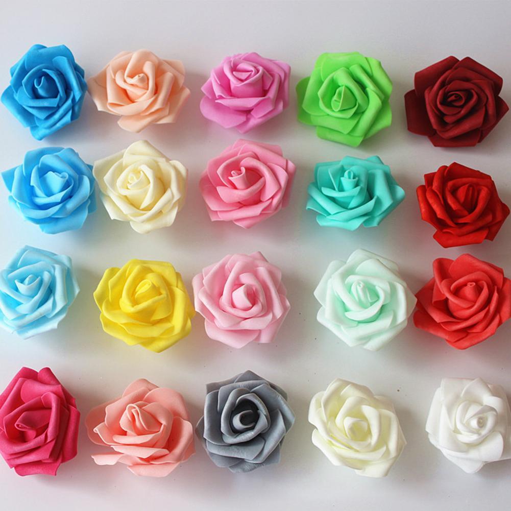 100 шт., искусственные розы из пенопласта, 7 см