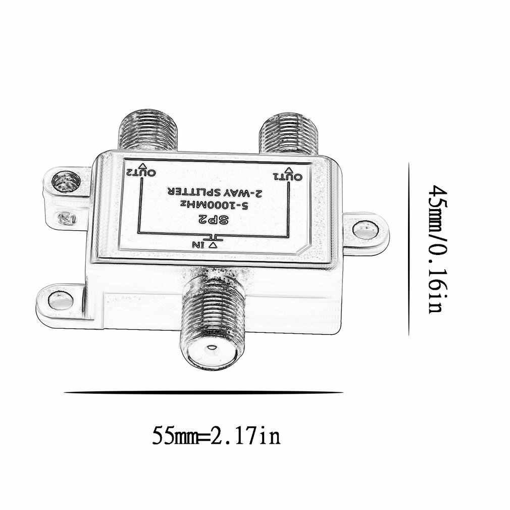 2 สาย Splitter ดาวเทียม Multiswich CATV เครื่องผสมสัญญาณ Digital Satellite Combiners ตัวแยกสัญญาณ VHF UHF