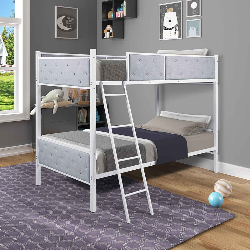 Twin Over Twin Loft Bunk Bed Strong Sturdy Frame For Adults Kids Separable Safe Sleeping Bed With Slat Ladder Aliexpress
