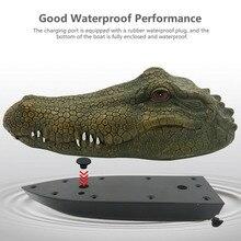 2,4 г электрическая гоночная RC лодка для бассейнов с имитацией головы крокодила пародия игрушки FJ88