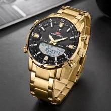 Золотые мужские часы, новые роскошные Брендовые спортивные стильные часы, мужские кварцевые наручные часы с хронографом, мужские водонепро...