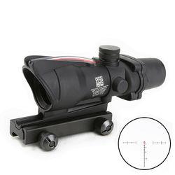 Тактический прицел для ружья с красным шевроном и подсветкой, 4x32