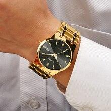 2021 WWOOR Fashion Diamond Men Watches Top Brand Luxury Gold Black Quartz Wristwatch Waterproof Automatic Date Relogio Masculino