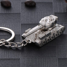 Creative Men's Keychain Popular Game WOT World Of Tanks Keychains Tank Pendant Key Ring Chain Man Souvenirs Gift Keychain Ring