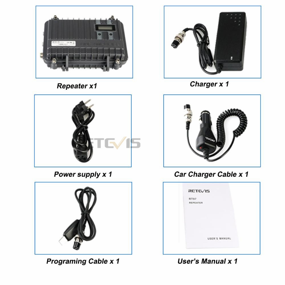Image 5 - Customizable Full Duplex Mini Analogue Repeater RETEVIS RT97 Two Way Radio Repeater 10W UHF (or VHF) Repeater For Walkie Talkie-in Walkie Talkie from Cellphones & Telecommunications