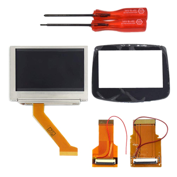 MOD LCD Backlight Kit 32 Pin+40 Pin GBA SP AGS-101 Backlit Screen with Glass Screen Lens Panel for Gameboy Advance