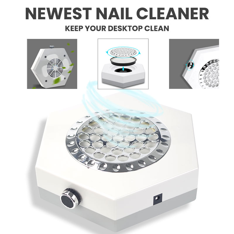 80W Powerful Nail Vacuum Cleaner Manicure Machine Suction Nail Dust Collector Nails Cleaner For Dust Collecting Nail Fan