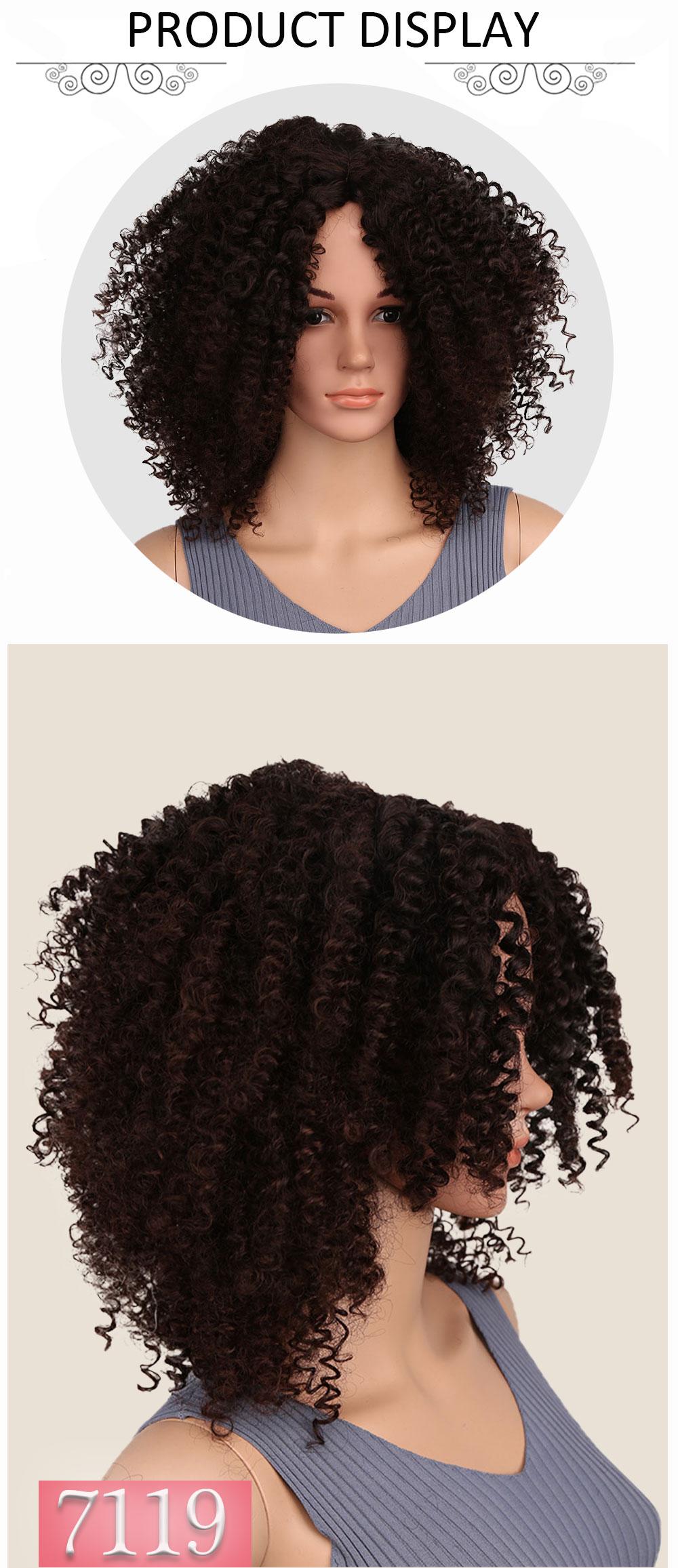 preto feminino loira mista marrom perucas sintéticas