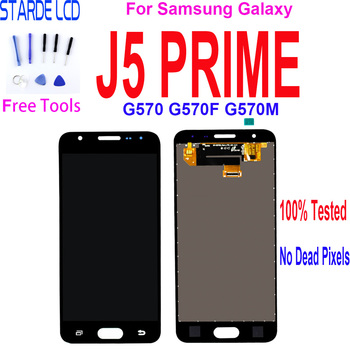5.0  LCD Display For Samsung Galaxy J5 Prime G570 G570F G570M  LCD Display Touch Screen Digitizer Assembly Replacement аксессуар чехол samsung galaxy j5 prime g570f gecko book black g book samj5pr bl