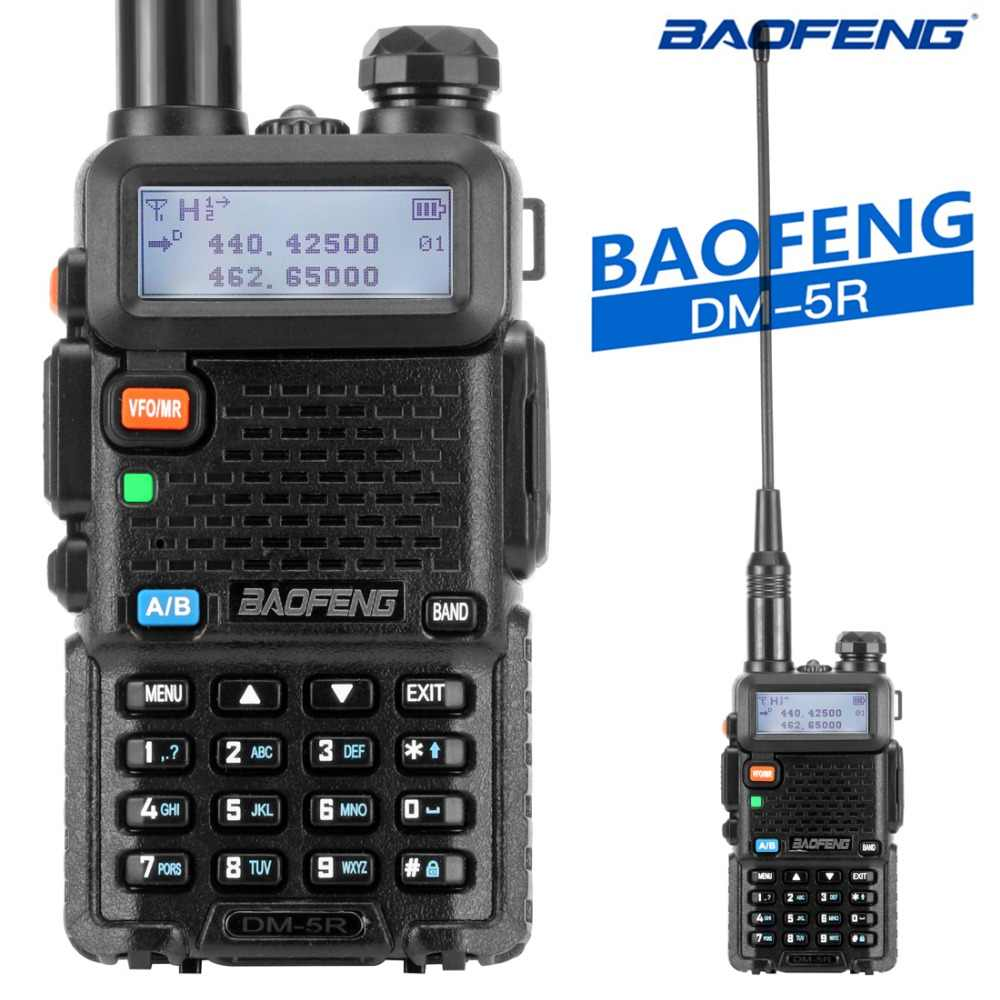 Baofeng DM-5R Tier1 Tier2 talkie-walkie numérique DMR double bande DM 5R double fente horaire Radio bidirectionnelle DM5R Radio Communicador