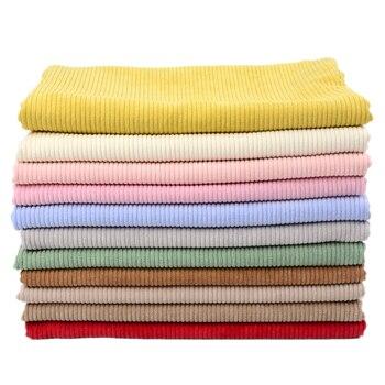 50 cm/unids 155cm tela de pana chaqueta de Color sólido ropa camisa acolchada chaqueta sofá terciopelo cómodo transpirable Manual DIY