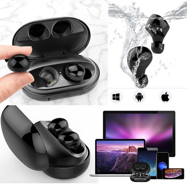 Słuchawki wodoodporne do pływania bezprzewodowe słuchawki Bluetooth słuchawki douszne głęboki bas sportowe słuchawki Stereo uszne słuchawki