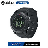 Novo zeblaze vibe 3 flagship robusto smartwatch 33 meses de tempo de espera 24h all-weather monitoramento relógio inteligente para ios e android