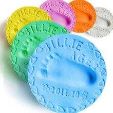 1 шт., Детский комплект с отпечатками пальцев для рук, для высыхания воздуха, мягкая глина для родителей и детей, Подушечка для чернил, забавная память с отпечатком пальца