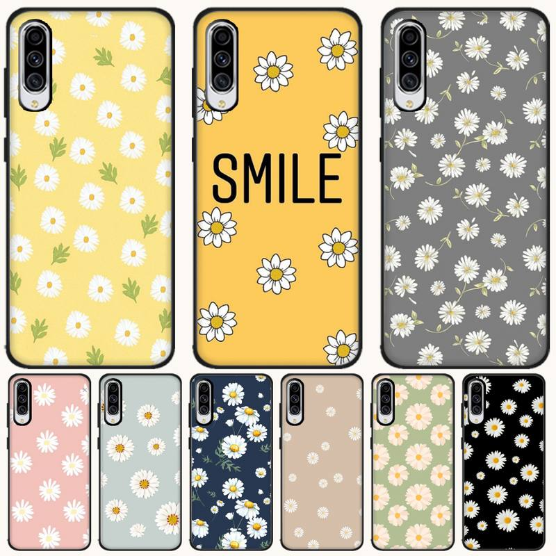 Ljhydfcnb Daisy Wallpaper Cover Black Soft Shell Phone Case For Samsung A6 6s 6plus 7 720 750 8 8 Plus 9 920 2018 A8 A9star Half Wrapped Cases Aliexpress