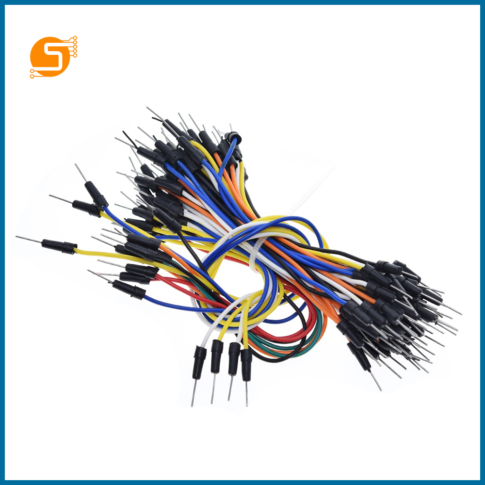 S ROBOT 65pcs Jump Wire Cable Male To Male Jumper Wire For Arduino Breadboard EC9
