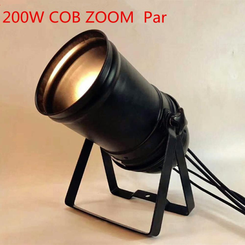 LED ZOOM 15- 50 Degree 300W COB LED Par Light 3200K Warm White  Stage Disco Light DMX Par 64