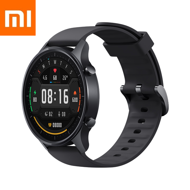 New Xiaomi Smart Wrist Watch Color Black Silver Xiomi Strap Charging Stand 10 Sports Modes 5ATM Waterproof 14 Days Battery Life