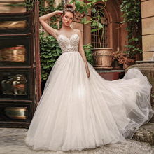 Verngo A-line Boho Wedding Dress Lace Appliques Gowns Elegant Bride V-neck Backless Vestidos De Noiva 2020
