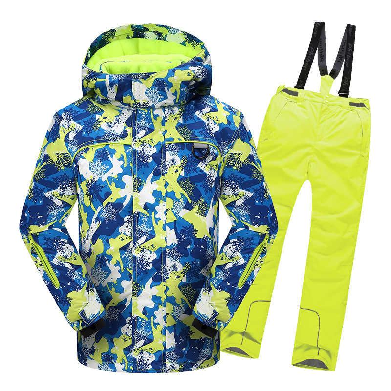Traje de esquí de calidad para niños chaqueta impermeable cálida para nieve envío rápido DHL Express