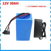 300W 12V 30AH li-ion battery 12 Volt 30000MAH Lithium bateria pack for 12V 3S UPS street light Batteria with 12.6V 3A charger