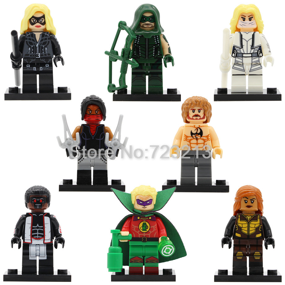 Storm Hero Vixen Figure Arrow White Canary Iron Fist Elektra Mister Terrific Green Lantern Building Blocks Toys Legoing