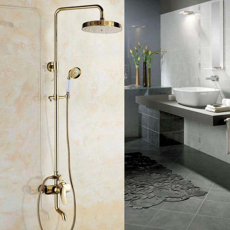 Badezimmer Dusche Wasserhahn Set 20,3 cm Regen Dusche Kopf Hand Spray Schwarz
