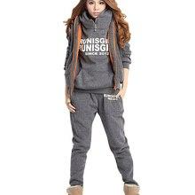 Новая распродажа, комплект из 3 предметов, женская спортивная одежда, флисовый утепленный свитшот с капюшоном, зимние осенние толстые спорт...