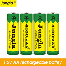 New 2~20pcs/lot Brand AA rechargeable battery 4100mah 1.5V New Alkaline Rechargeable batery for led light toy mp3 Free shipping(China)