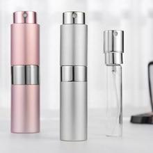 8ml/15ml garrafa de perfume de alumínio garrafa de pulverizador cosmético portátil vazio viagem maquiagem água perfume atomizador garrafa