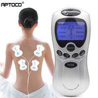 Aptoco 4 Elektrode Körper Gesundheit Pflege Zehn Akupunktur Elektrische Therapie Massager Meridian Physiotherapie Massage Gerät