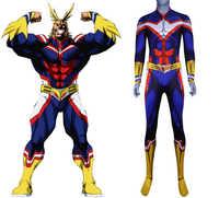 Disfraz de My Hero Academia All Might para adultos, mono de noche de Brujas, Zentai infantil de segunda piel